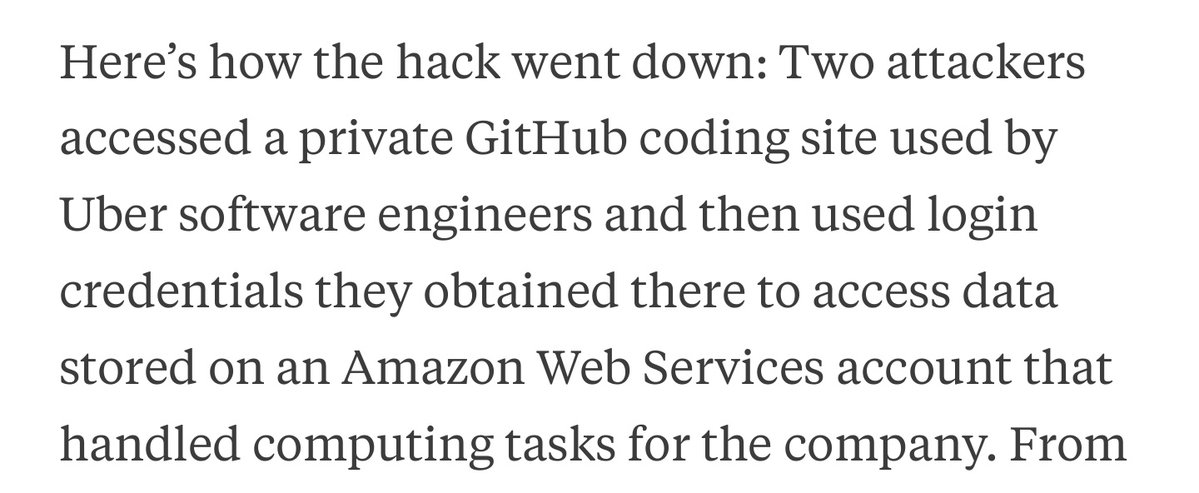 RT Eng 1: should we maybe not check AWS credentials in to the repo? Eng 2: nah, it's a private repo, it's ok  - embedded image