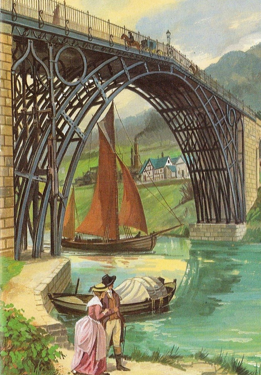 RT Today in Ladybird 1 Jan 1781 The Iron Bridge, the first arch bridge in the world to be made of cast iron, is opened  - embedded image