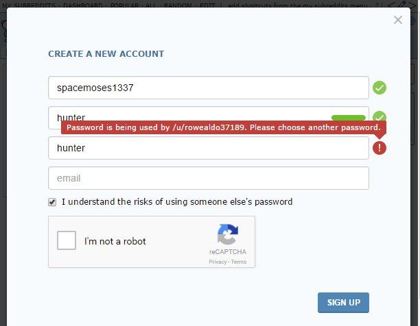 RT Your password is not unique.  - embedded image