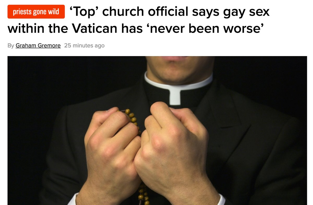 RT did no one ask the bottom church officials?  - embedded image