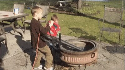 RT Sure kids you can use the leaf blower to clean the fire pit.  - embedded image