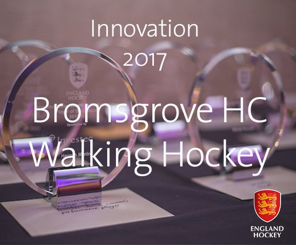 RT Well done to @BromsgroveHC for winning Innovation of the Year with walking hockey! #EHAwards17  - embedded image