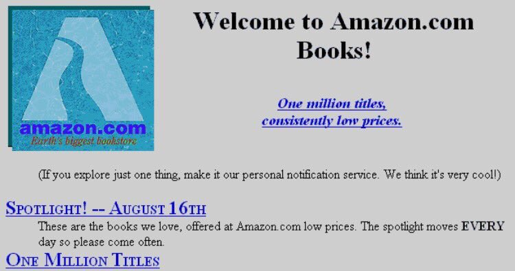 RT On this day in 1995: Amazon opens for business as an online bookseller  - embedded image