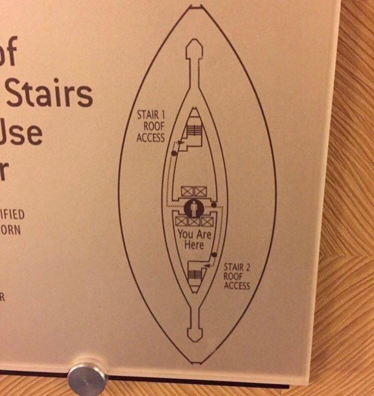 RT Most men can't find stair 1 roof access  - embedded image