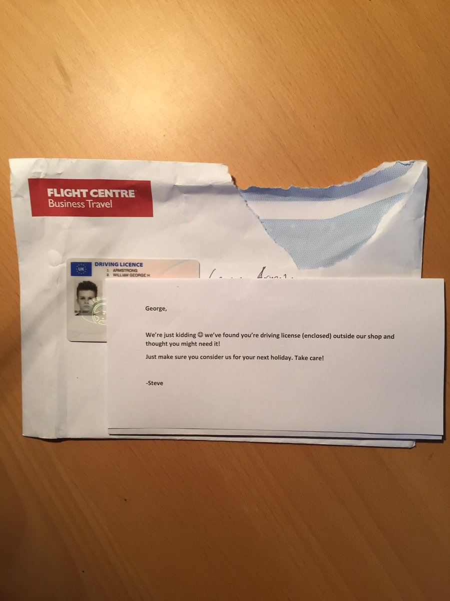 RT so I was pretty drunk the other night and I lost my ID, then this turns up today...  - embedded image 4