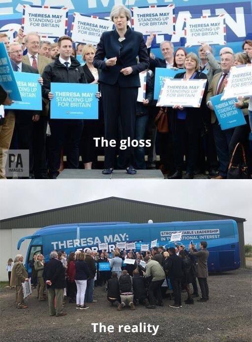 RT Don't believe what you see. #GE2017  - embedded image