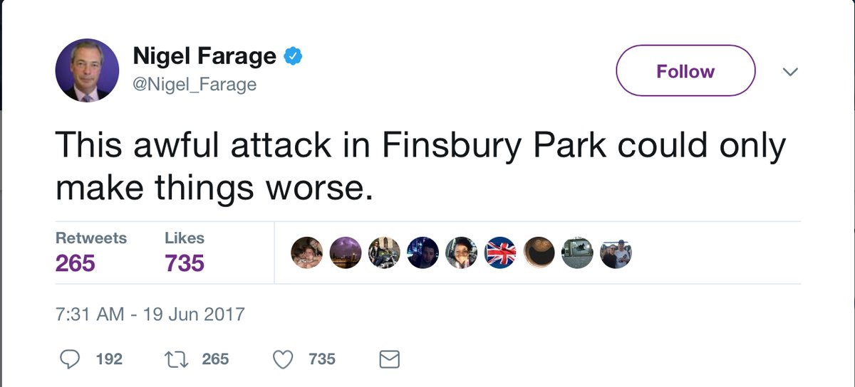RT Let's talk about how the #FinsburyPark terrorist was radicalised.  - embedded image 1
