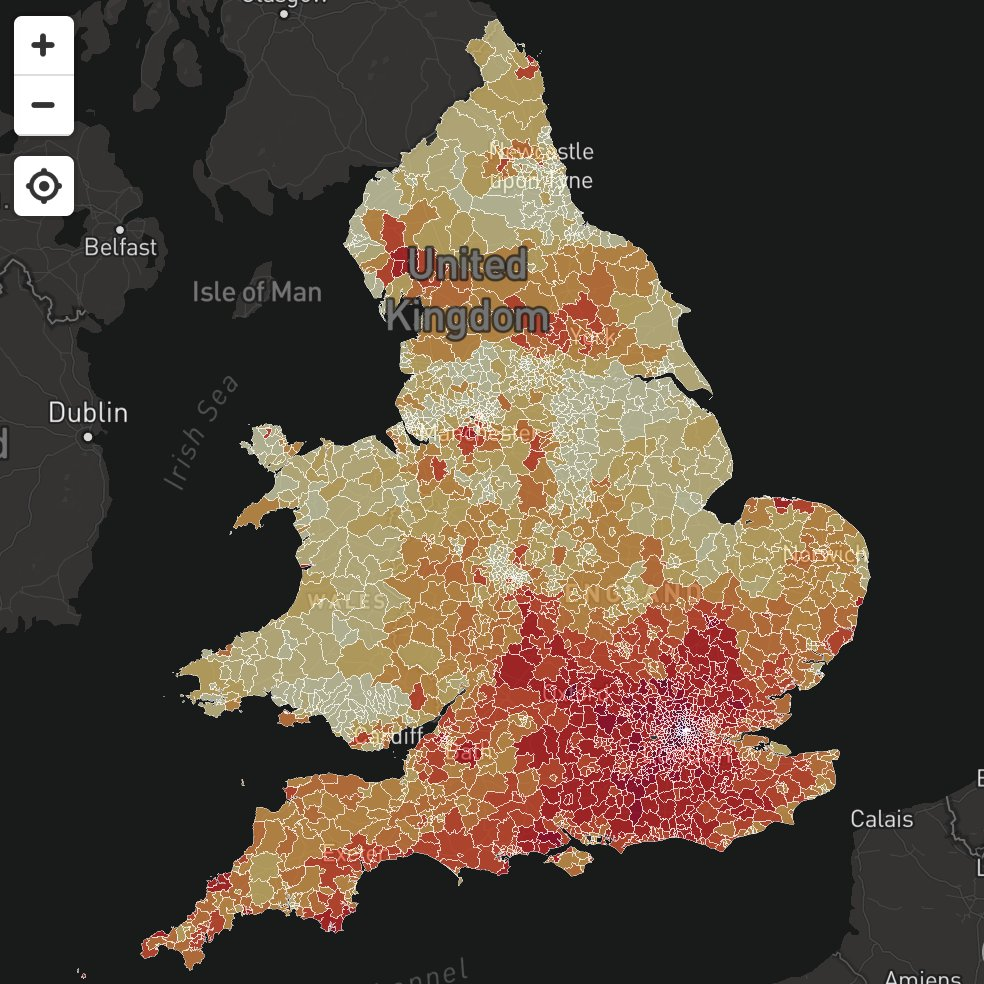 RT Mapped! House prices per square metre, from brand new data https://t.co/IA1x9in4nL  - embedded image