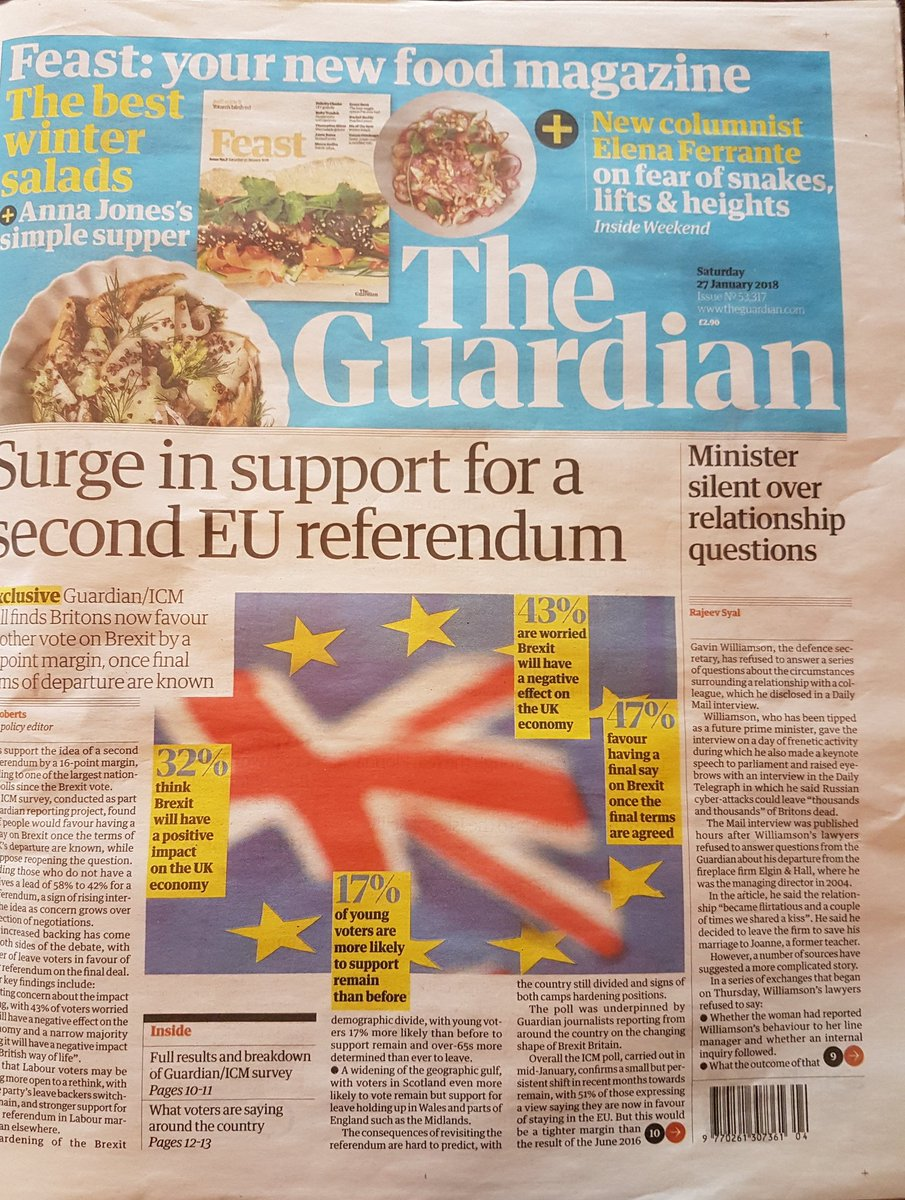 RT .@guardian survey shows winning argument on #Referendum2018 #FBPE #ExitFromBrexit bring it on @Nigel_Farage  - embedded image