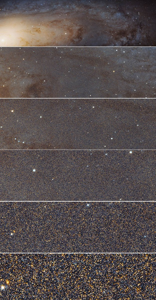 RT Almost inconceivable... This is what a trillion stars look like! (Sharpest ever view of the Andromeda Galaxy)  - embedded image