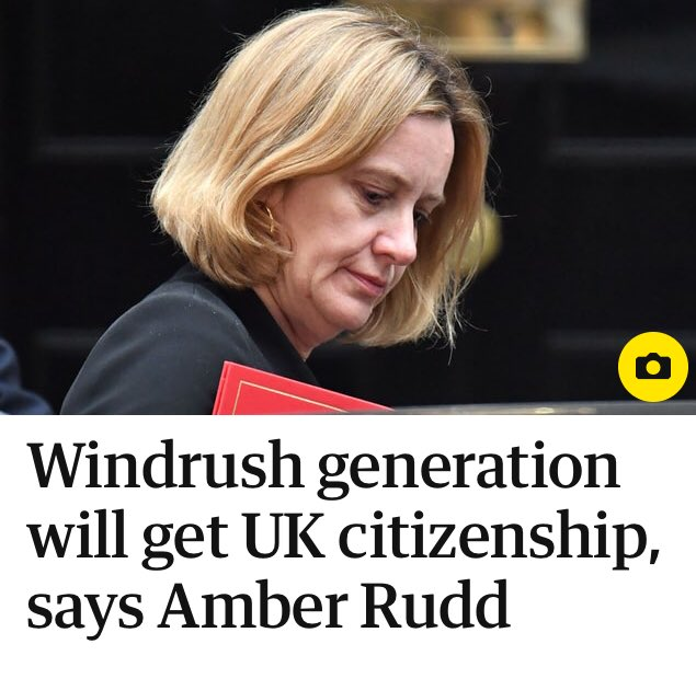 RT In generous move, Amber Rudd offers British citizenship to British people.  - embedded image