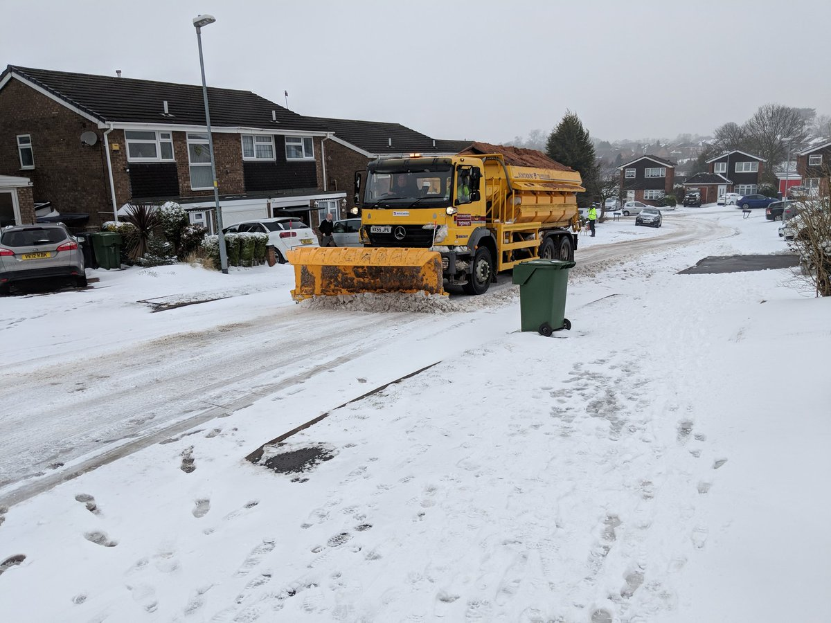 Spotted - snow plough  #bromsgrove Pennine road.  Thanks @WorcsTravel ...  - embedded image