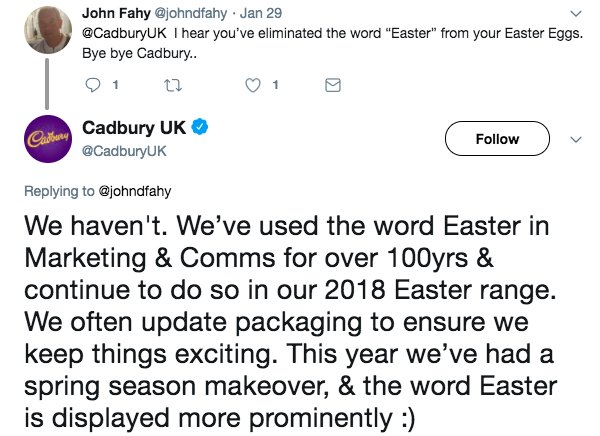 RT At this time of year please spare a thought for the Cadbury social media team.  - embedded image 3