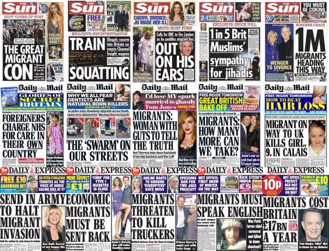 RT Why has racism, xenophobia and bigotry has become normalised? Pop down to your local newsagents and find out.  - embedded image