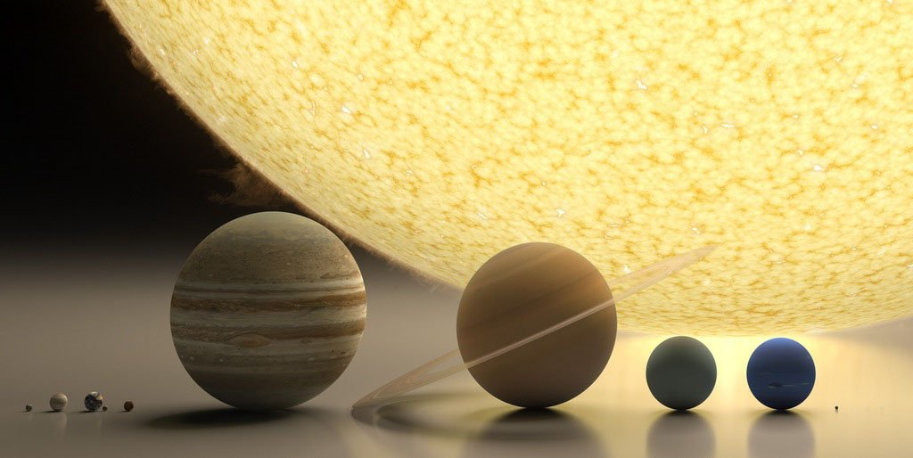 RT An elegant representation for putting them all to scale #SolarSystemSaturday  - embedded image