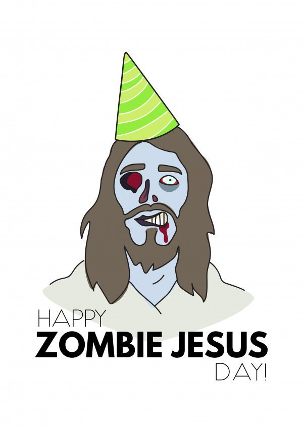 Happy Zombie Jesus day! Aka Chocolate Sunday... which somehow involves a rabbit.  - embedded image