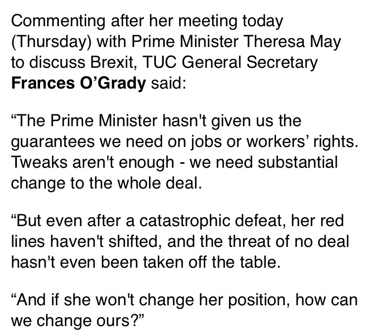 RT Meeting between ⁦@Theresa_may⁩ and ⁦@FrancesOGrady⁩ went precisely to script.  - embedded image