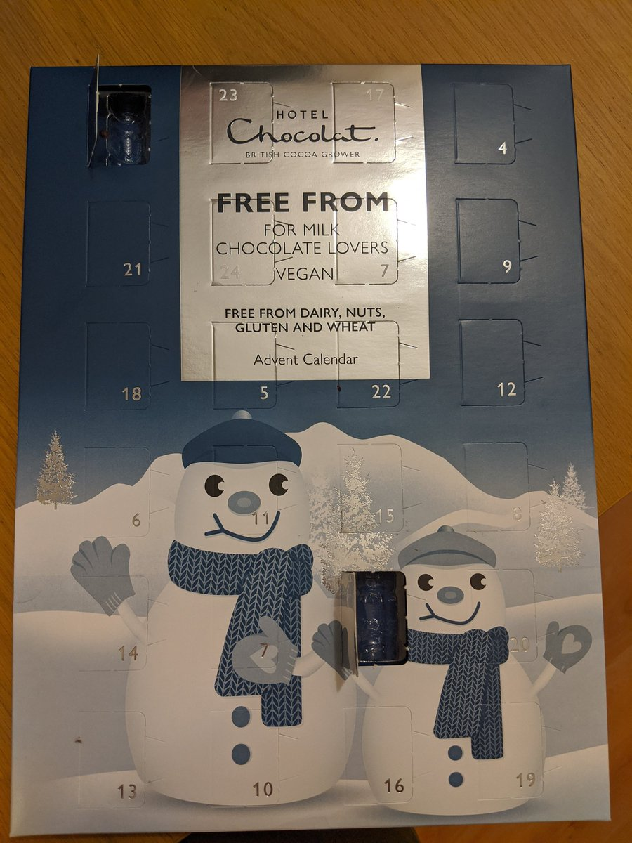 Hey @HotelChocolat your calendar is missing a door for today (3) but has two 7s :-(  - embedded image