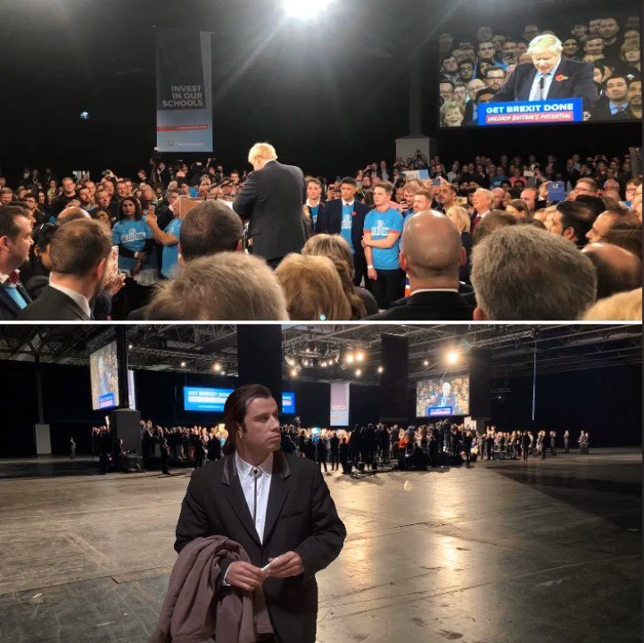 RT Smoke & mirrors: the image of the @Conservatives campaign launch versus the reality. #GE2019  - embedded image