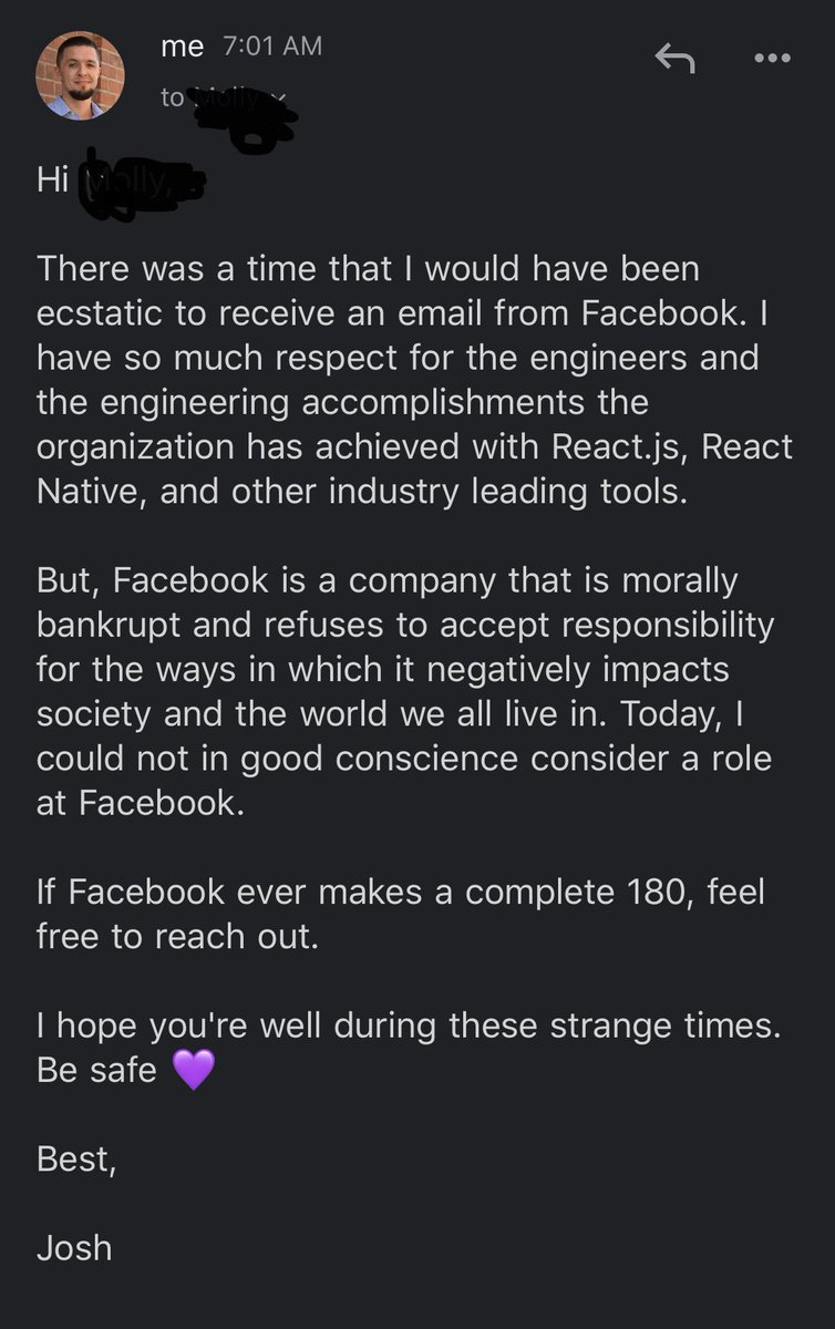 RT Email from a @facebook recruiter + my response:  - embedded image 2