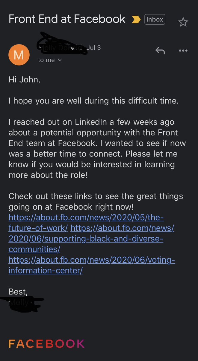 RT Email from a @facebook recruiter + my response:  - embedded image 1