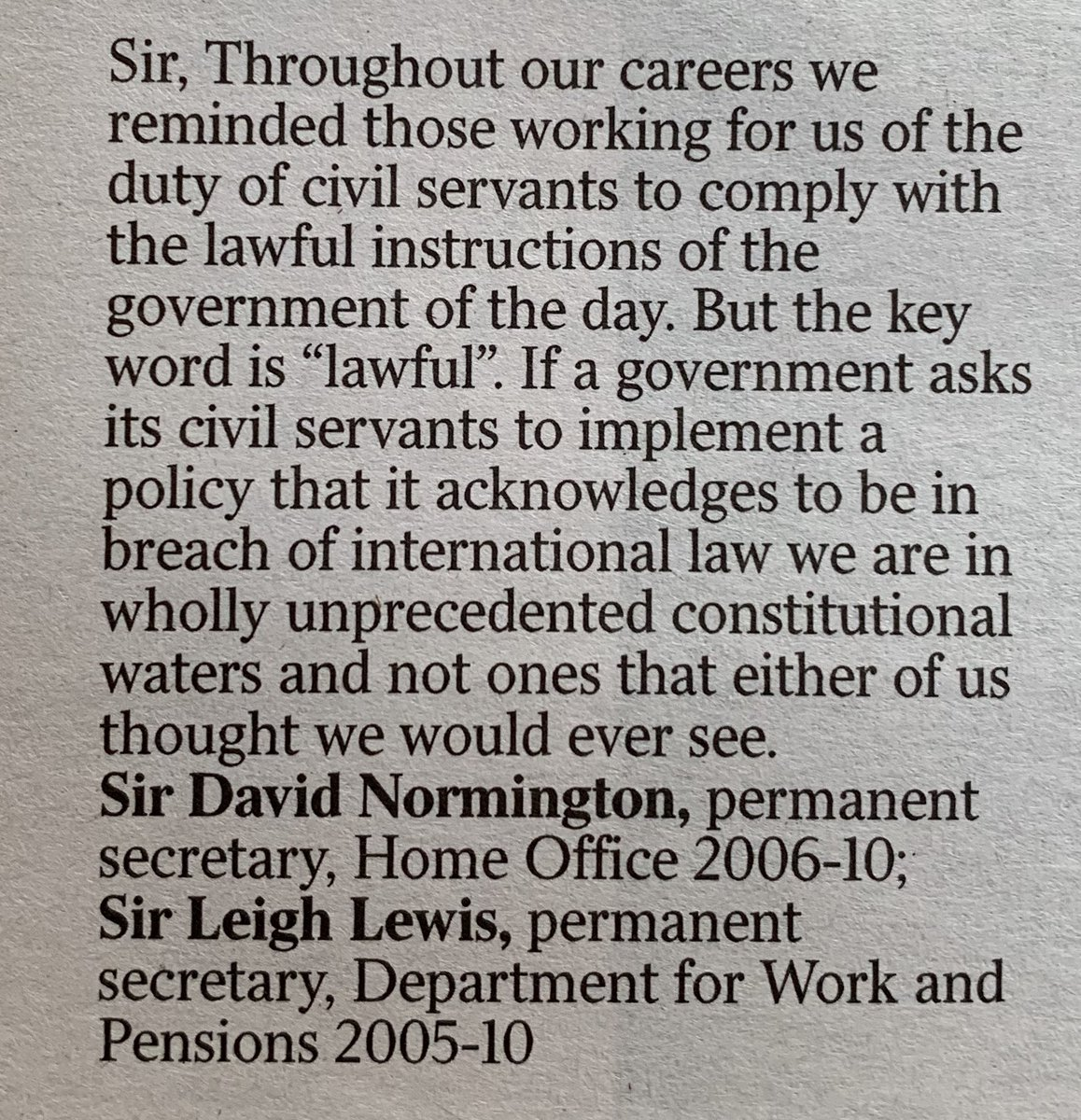 RT letter to The Times  - embedded image